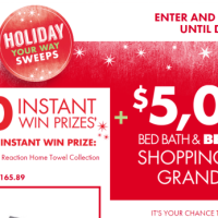 Bed Bath and Beyond Holiday Your Ways Sweeps