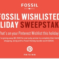 Fossil Whishlisted Holiday Sweepstakes