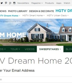 hgtv dream home 2015 sweepstakes sweeps maniac. Black Bedroom Furniture Sets. Home Design Ideas