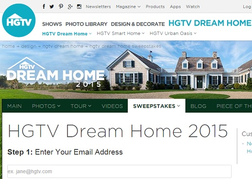 Home » Hgtv 2015 Home Giveaway Swerpstakes Rules