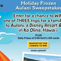 koh'l Holiday Frozen Aulani Sweepstakes