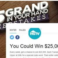 HGTV 25 Grand in your Hand Sweepstakes [Code Words]