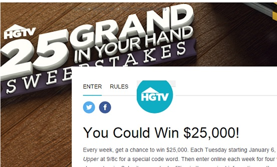 Fixer upper sweepstakes entry