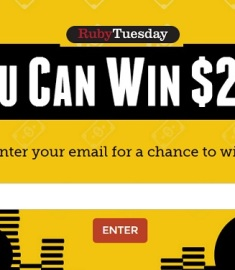 Ruby Tuesday $20K Sweepstakes