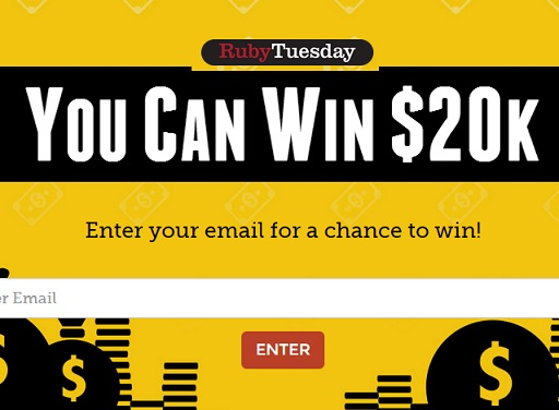 ruby tuesday 20k sweepstakes sweeps maniac. Black Bedroom Furniture Sets. Home Design Ideas