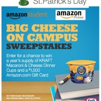 Amazon Student Big Cheese on Campus Sweepstakes