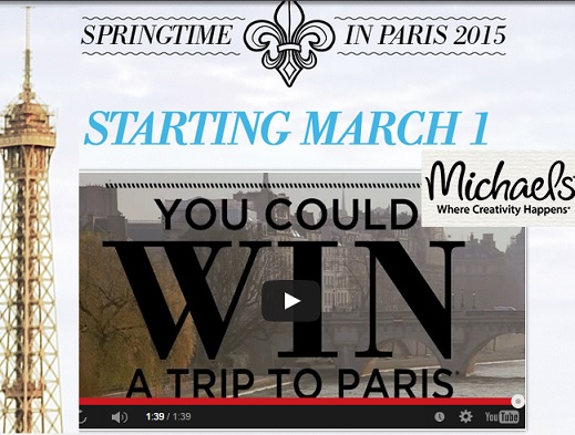 Michaels Spring Time in Paris Sweepstakes
