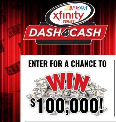 NASCAR Xfinity $100000 sweepstakes