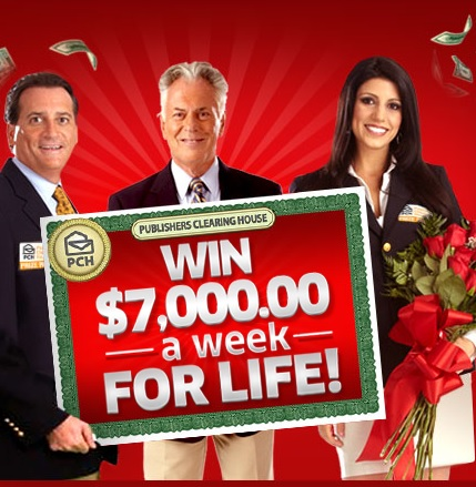 PCH Sweepstakes 7000 a Week for Life 2015