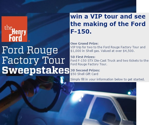 Ford Rouge Factory Tour Sweepstakes - Sweeps Maniac