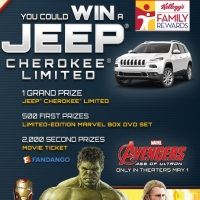 Kellogs Avengers Age of Ultron Sweepstakes