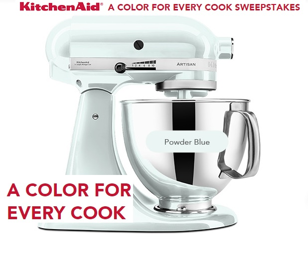 Kitchenaid Colors 2015 kitchenaid a color for every cook sweepstakes - sweeps maniac