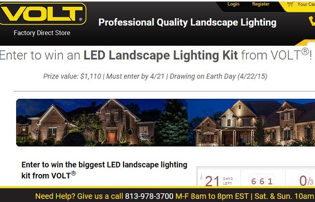 volt led landscape lighting kit sweepstakes sweeps maniac