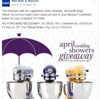 Bed Bath & Beyond April Wedding Showers Giveaway