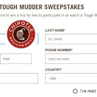 Chipotle Tough Mudder Sweepstakes