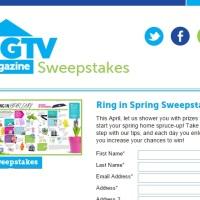 HGTV Magazine Ring in Spring Sweepstakes
