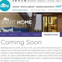 HGTV Smart Home 2015 Sweepstakes