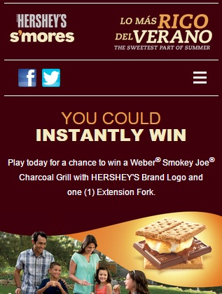Hershey's Smores Instant win sweepstakes - Sweeps Maniac
