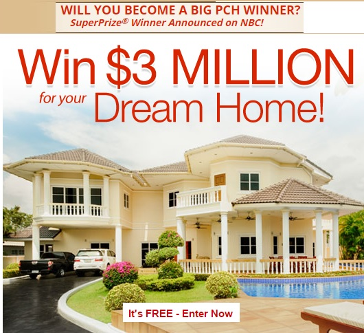 Pch 3 million dream home sweepstakes sweeps maniac for New home giveaway