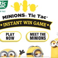 Minions Tic Tac Instant Win Game