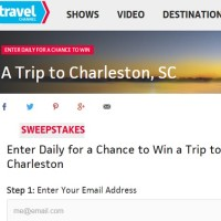 Travel Channel Win a trip to Charleston Sweepstakes