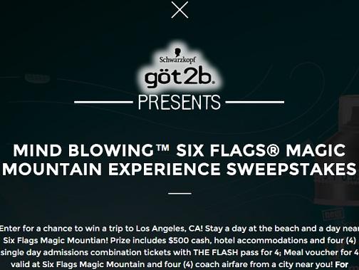 Got2b Six Flags Magic Mountain Sweepstakes - Sweeps Maniac