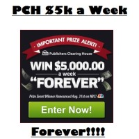 PCH Win $5000 a Week Forever Giveaway