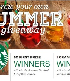 Starbucks Brew Your Own Summer Sweepstakes - Sweeps Maniac