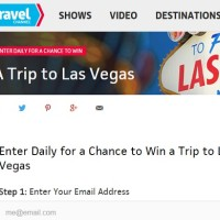 Travel Channel Sweepstakes Win a trip to Las Vegas