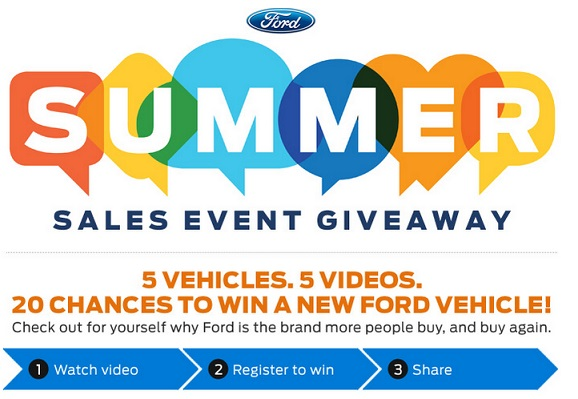 Ford Summer Sales Event Giveaway
