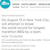 HGTV The Finest Grillathon Contest