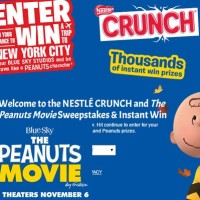 Nestle The Peanuts Movie Sweepstakes