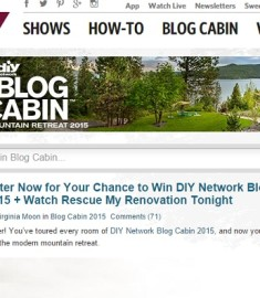 diy network Blog Cabin sweepstakes 2015