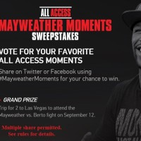 All Access Mayweather Moments Sweepstakes