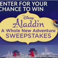 Disney Aladdin A Whole New Adventure Sweepstakes