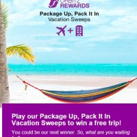 Orbitz Rewards Package Up Pack it In Vacation Sweeps