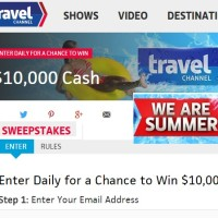 Travel Channel We Are Summer 2015 Sweepstakes