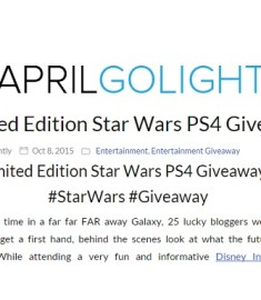 Limited Edition Star Wars PS4 Giveaway