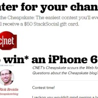 CNET The Cheapskate Giveaway Win iPhone 6S