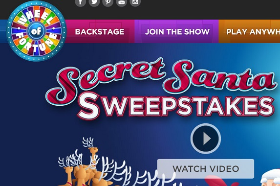 Wheel of fortune christmas sweepstakes