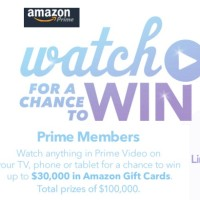 Amazon Prime Video Watch to Win Sweepstakes