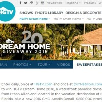HGTV Dream Home Giveaway 2016