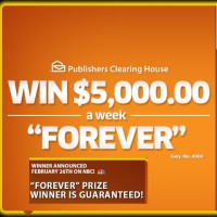 PCH $5 grand a week Forever Sweepstakes