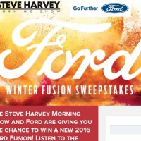 Steve Harvey Ford Winter Fusion Sweepstakes