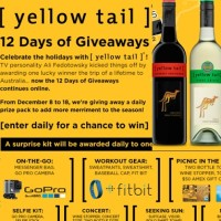 Yellow tail 12 Days of Giveaways