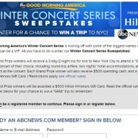 Good Morning America Winter Concert Series Sweepstakes
