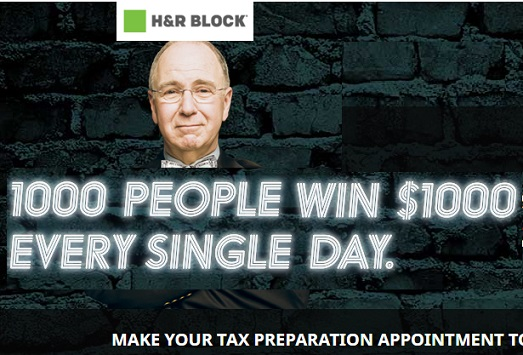 H and r block 1000 sweepstakes