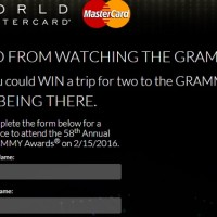 Mastercard 58th Grammys Sweepstakes