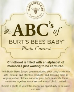 ABC's of Burt's Bees Baby Photo Contest