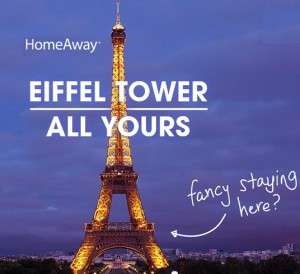 HomeAway Eiffel Tower All Yours Sweepstakes